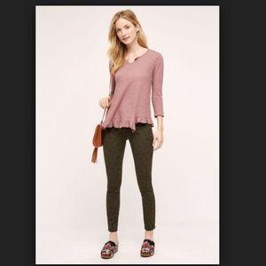 Anthropologie Pilcro Serif Mid-Rise Jacquard Jeans
